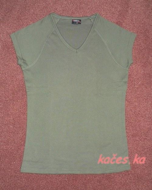 Dámské triko pro Vaše tvoření - khaki (vel.S)