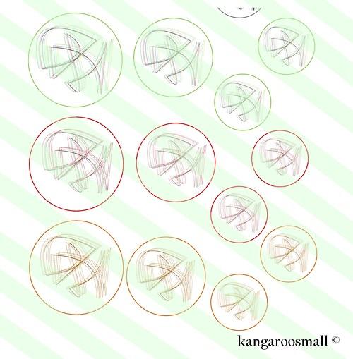 Motivy křišťálová pryskyřice: Abstrakce 30,25,18mm