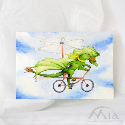 V oblacích - pohlednice A6