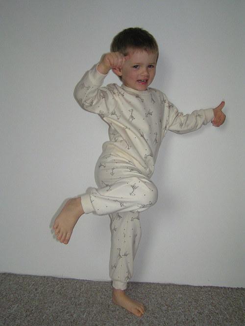 Bio bavlněné pyžamo v.92-110