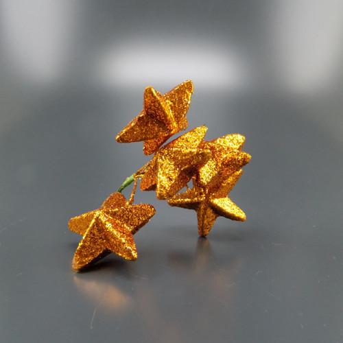 Hvězda na drátu 5cm zlatá