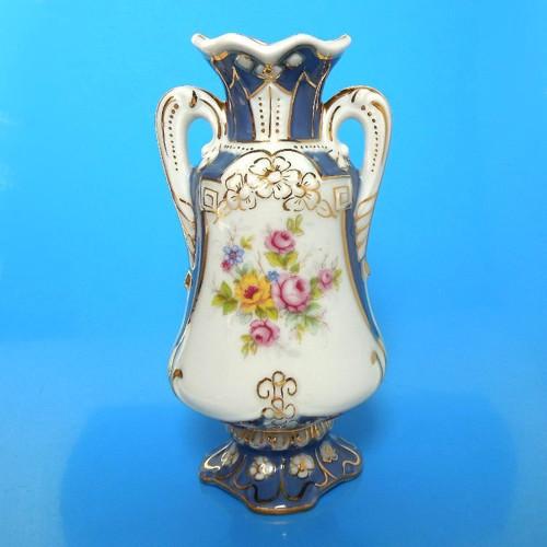 Značená dvouuchá váza amfora Royal DUX Bohemia B