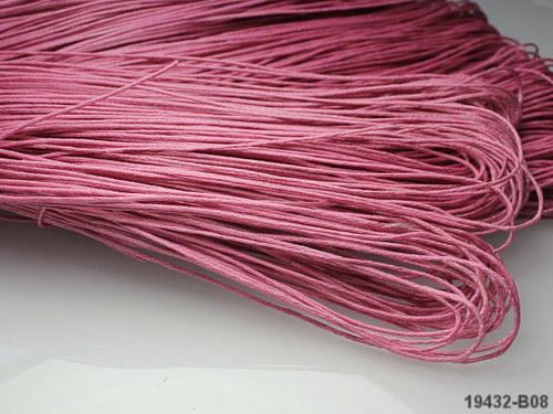 19432-B08 Voskovaná šňůrka růžová 1m