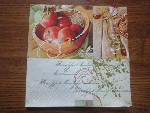Ubrousek na decoupage - jablíčka