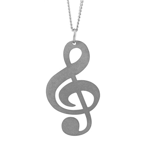 Dámský ocelový náhrdelník Witty - Houslový klíč