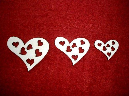 Sada girlanda 3ks - srdce-prořízlá srdíčka