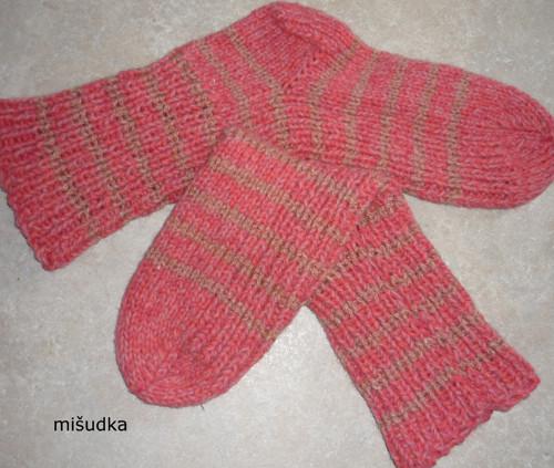 Ponožky jako od maminky -  růžové 24