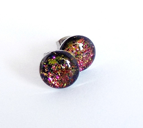 Zeleno-fialové chameleonky  10 mm z oceli
