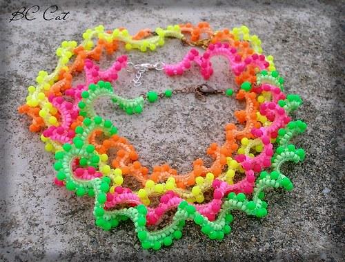 Neon - zelený - náhrdelník