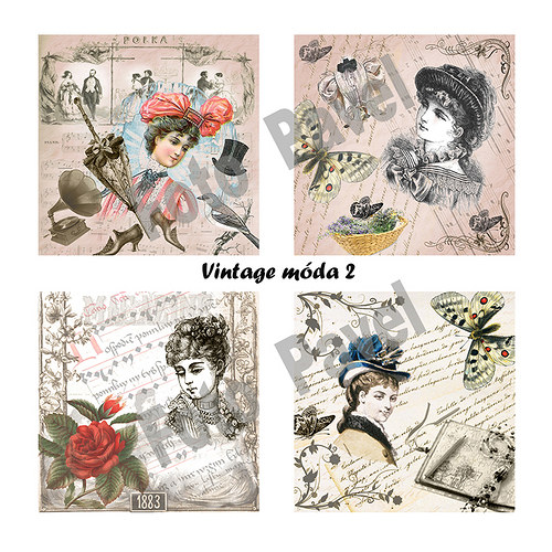 Vintage  motivy - móda 2