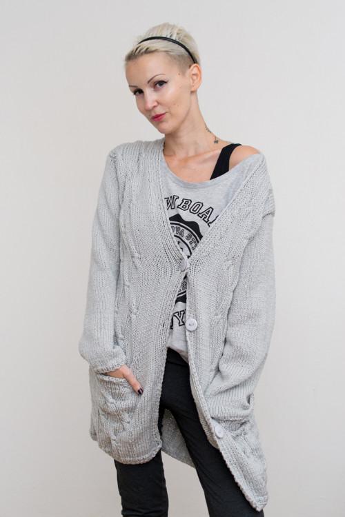 Kardigan/kabátek ve světle šedé