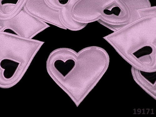 19171-B08 Aplikace srdce v srdci RŮŽOVÉ, bal.5ks