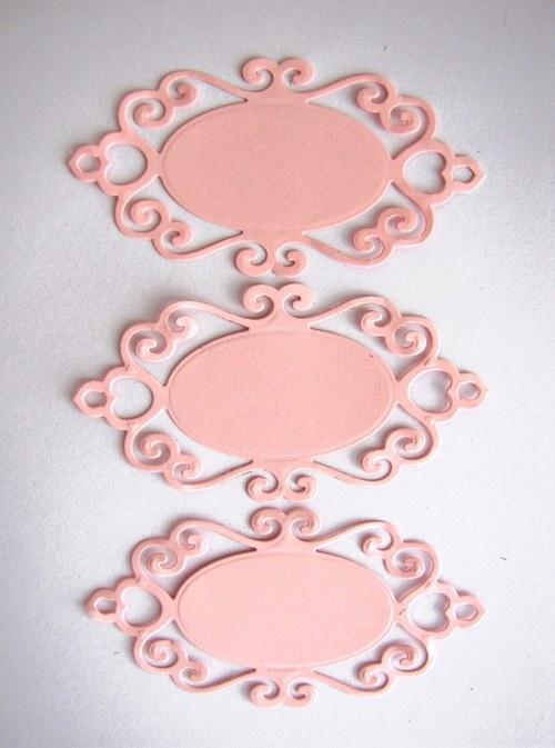 Štítek ornamentální č.3 - 3 ks - barva podle přání