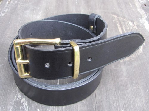 Opasek bronz  -hladký 4 cm černý