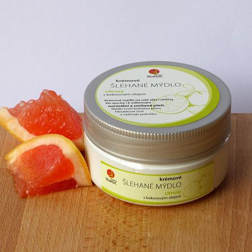 Šlehané mýdlo s kokosovým olejem - citrusy
