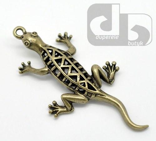 Bronzový přívěšek - velká ještěrka 5,2 cm