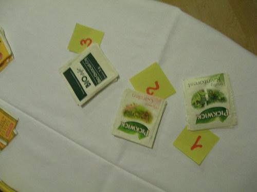 """Čajové sáčky aneb \""""Tea bag folding\"""" - bílá/zelená"""