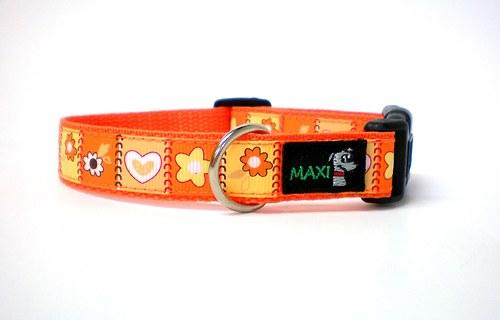 Oboječek Maxipes pro štěňátka oranž neon