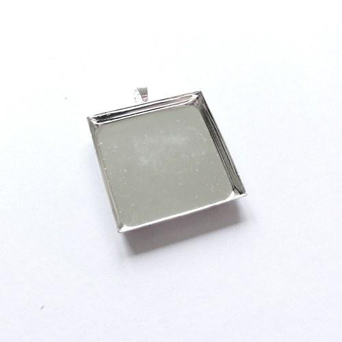 VÝPRODEJ -Hluboké lůžko čtverec (25 mm) - stříbrná
