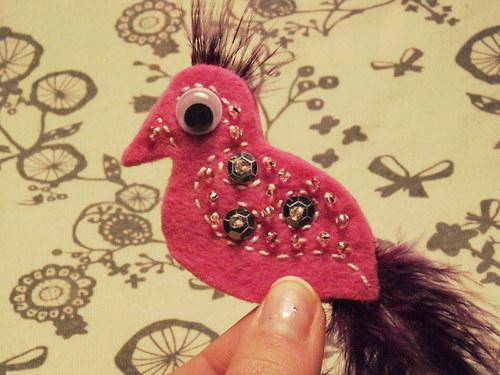Ptáček - Růžovofiaový