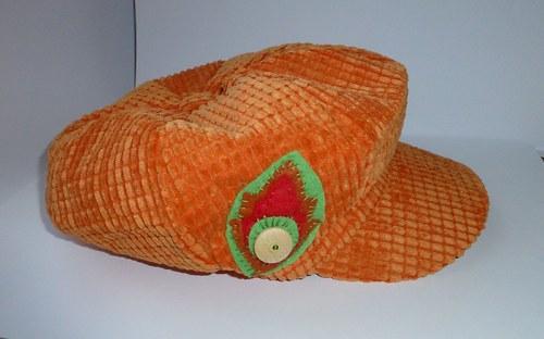 Kšiltovka / bekovka oranžová