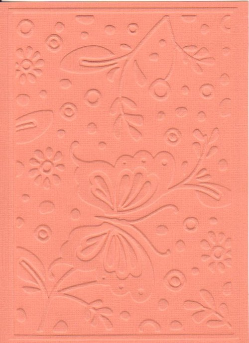 Embosovaná čtvrtka A6 - motýlek oranžový