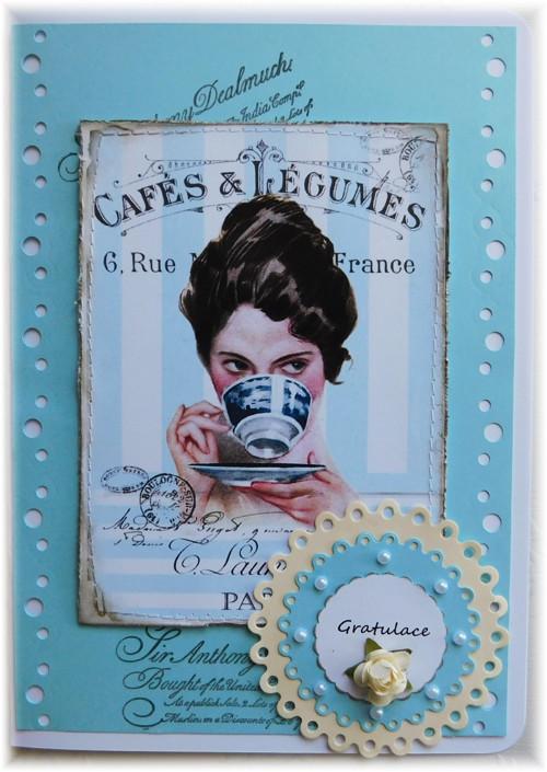 přání do obálky- čas na kávičku