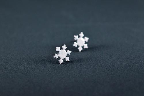 náušnice sněhové vločky