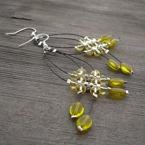 Žluté dešťové náhrdelníčky II.menší - 20% sleva