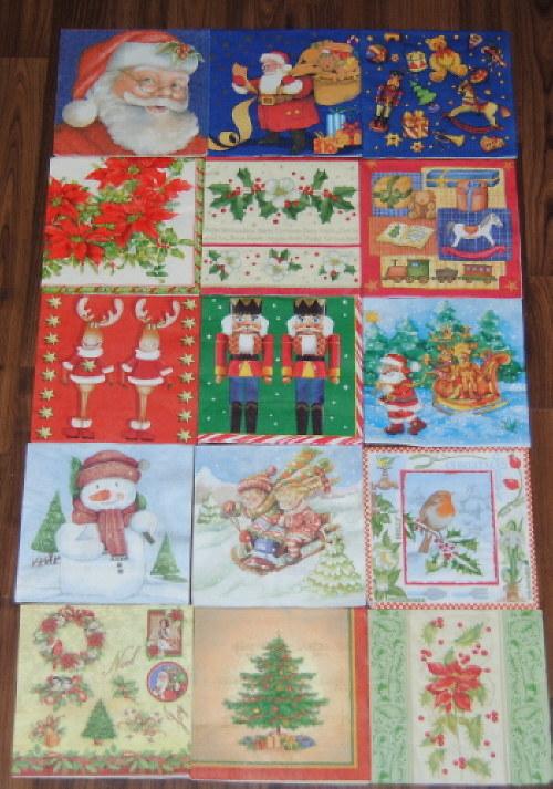 Vánoční ubrousky 15ks