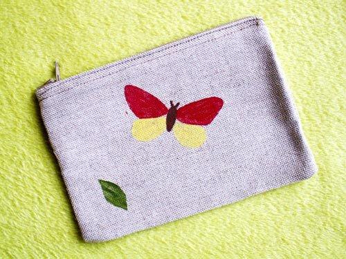 Taštička s motýlem a lístkem