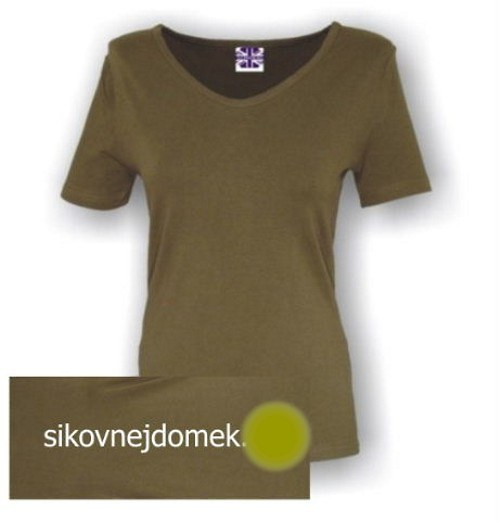 Dámské triko krátký rukáv KHAKI vel.M
