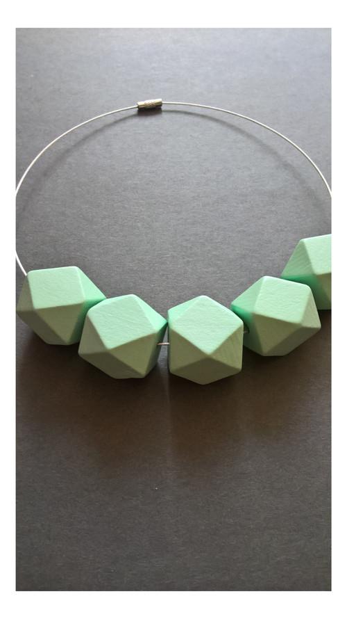 Geometrie - tyrkysový náhrdelník