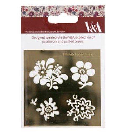 Kovová šablona V&M - čtyři květiny