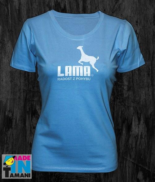 Dámské modré tričko s Lamou
