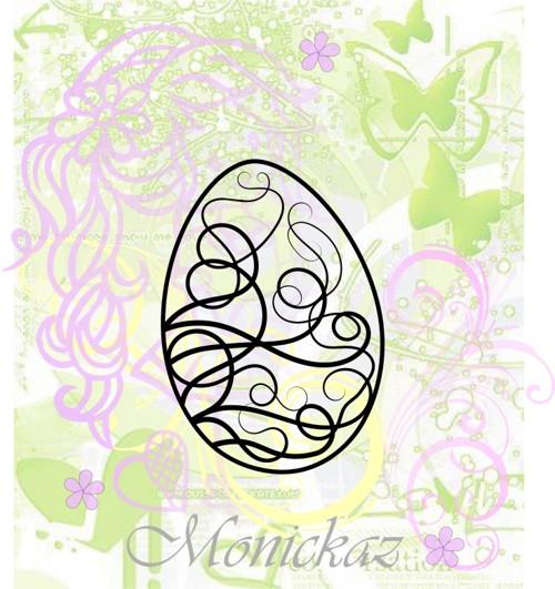 Vajíčko s ornamenty malé... Omyvatelné razítko.