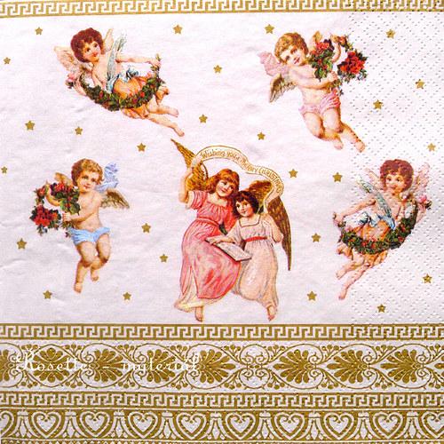 Andělíčci postavičky - ubrousek velký