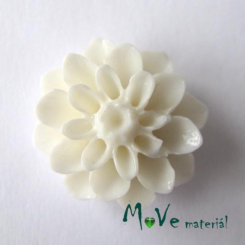 Kabošon květ lesklý resin/6ks/bílý./II. jakost