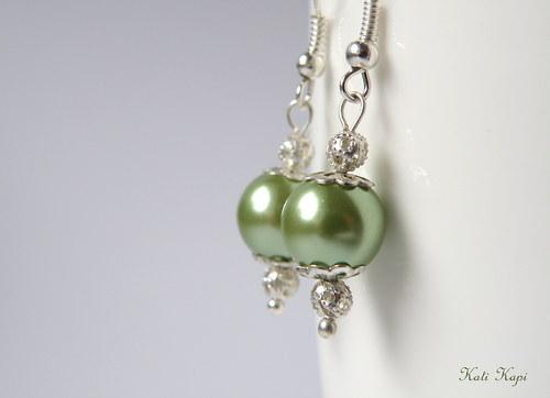 Náušnice perlové hráškové