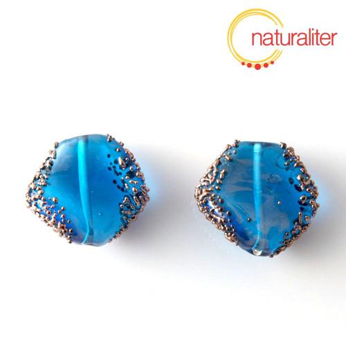 Vinutá perla světle modrá