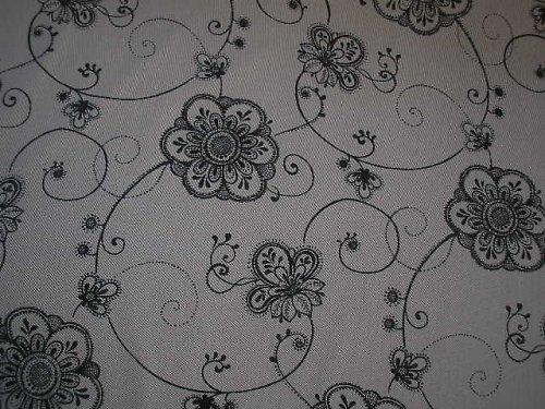 bavlněná látka - metráž - černá + bílá
