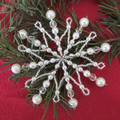 Vánoční hvězda perličkokrystalová