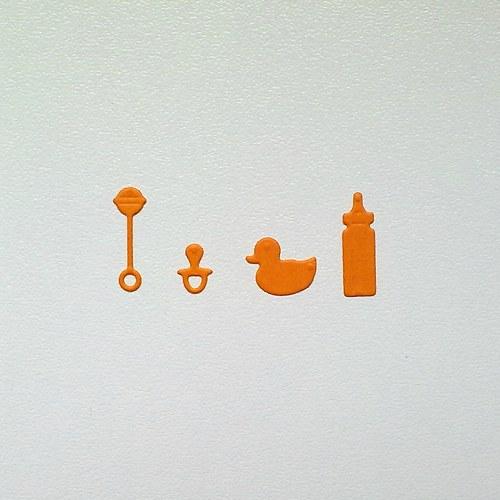 Výsek - Dětské (láhev,chrastítko,dudlík,kačenka)