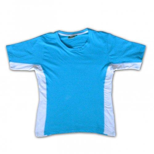 Tyrkysovo-bílé tričko - větší L