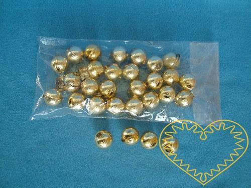 Zlaté skleněné perly ø 2 cm - 30 kusů