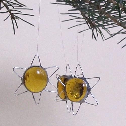 Vianočné dekorácie - Medové hviezdičky