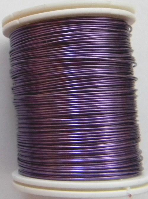 Měděný lakovaný drát 0,6 mm fialový