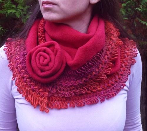 Zimní šátek (pelerína)