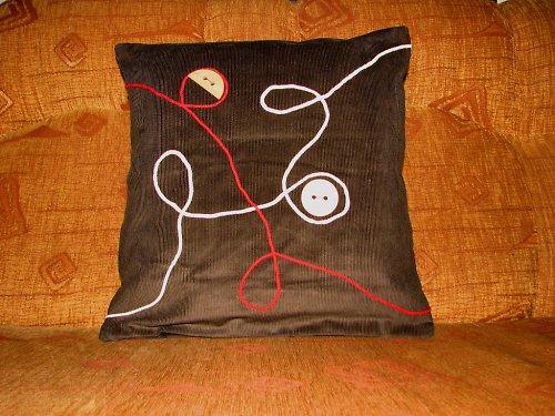 Provázkový povlak na polštářek