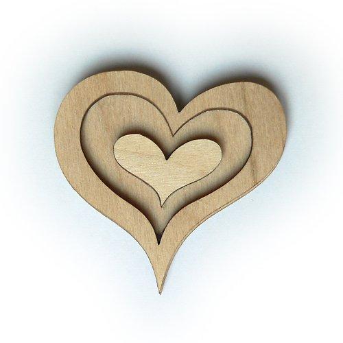 Dřevěné razítko - srdíčko 4